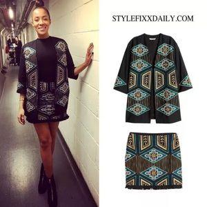 H&M Beaded Embroidered Fringe Mini Skirt 14